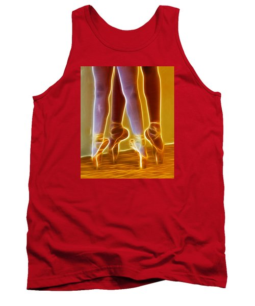Ballet On Point Seond Position Tank Top