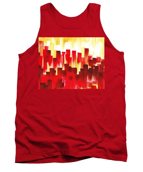 Urban Abstract Red City Lights Tank Top