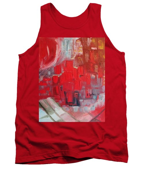 Tank Top featuring the painting Urban View by Evelina Popilian