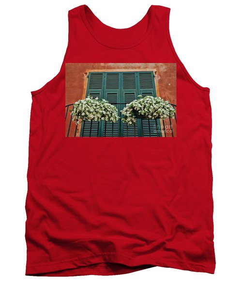 Tank Top featuring the photograph Venice Flower Balcony 2 by Allen Beatty