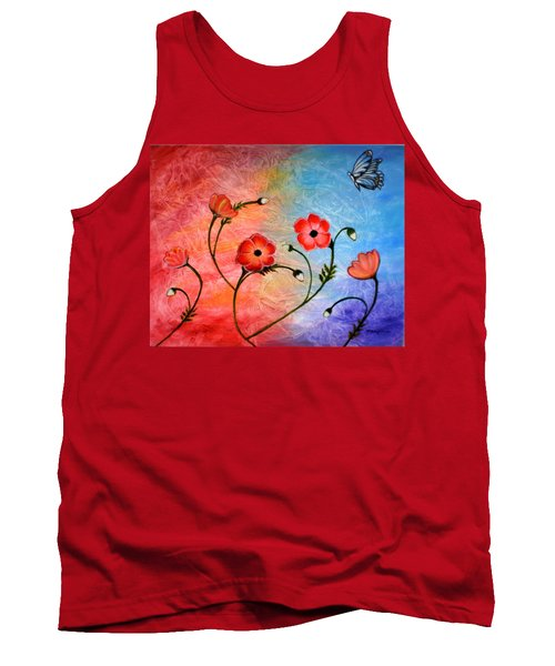 Vibrant Poppies Tank Top