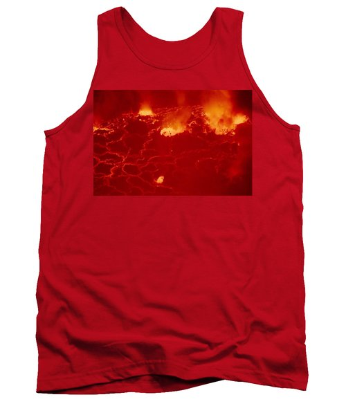 Virunga Mountains Congo Just Waking Up Volcano  Image Exploded View From Long Distance Photography  Tank Top
