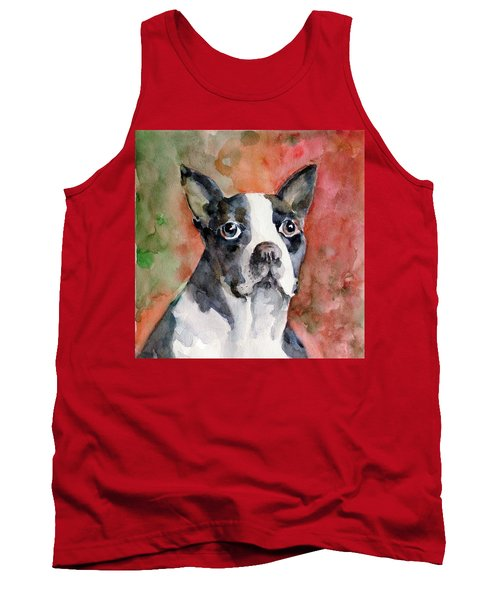 Tank Top featuring the painting Vodka - French Bulldog by Faruk Koksal