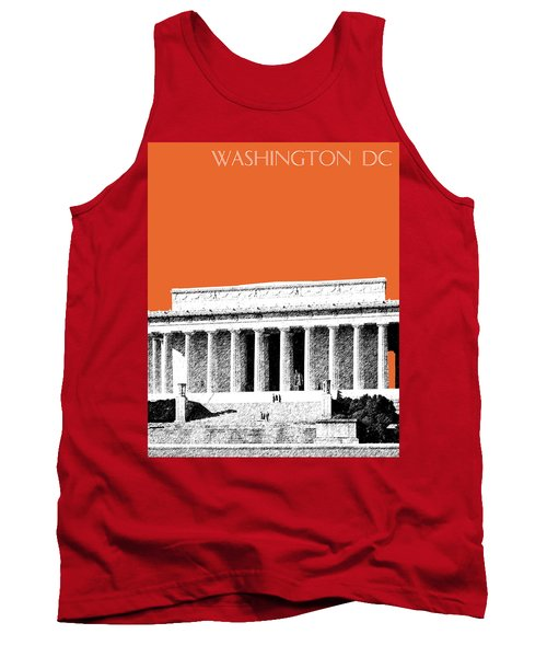 Washington Dc Skyline Lincoln Memorial - Coral Tank Top