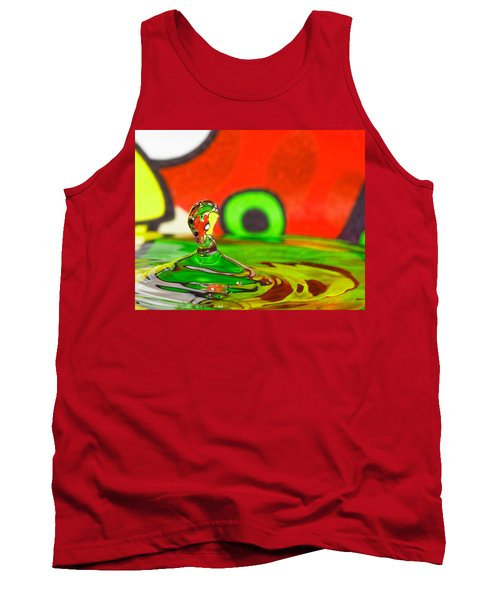 Tank Top featuring the photograph Water Hill by Peter Lakomy