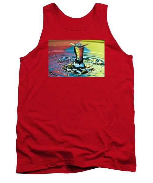 Water Splash Art Tank Top