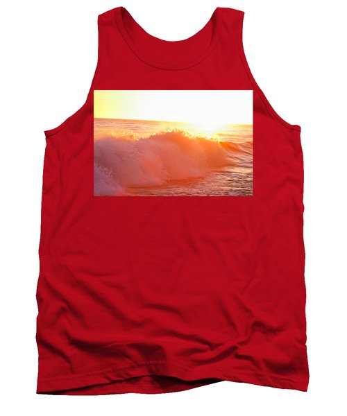 Waves In Sunset Tank Top