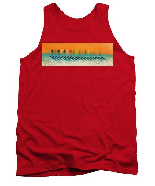 Tank Top featuring the painting We Are All The Same by Tim Mullaney