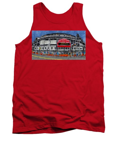 Welcome To Wrigley Field Tank Top by Phil Strang