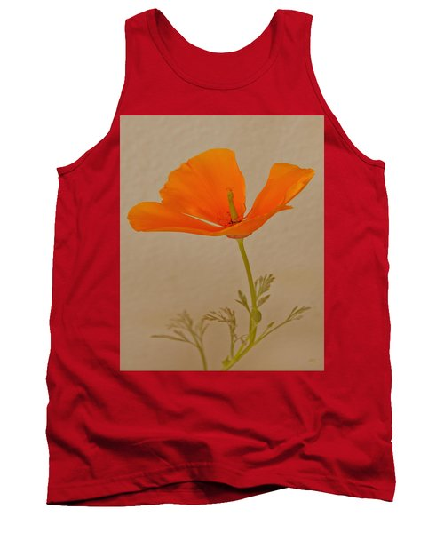 Wild California Poppy No 1 Tank Top