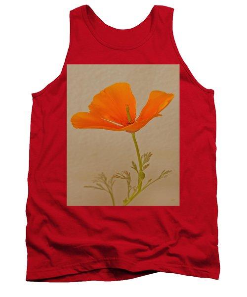 Wild California Poppy No 1 Tank Top