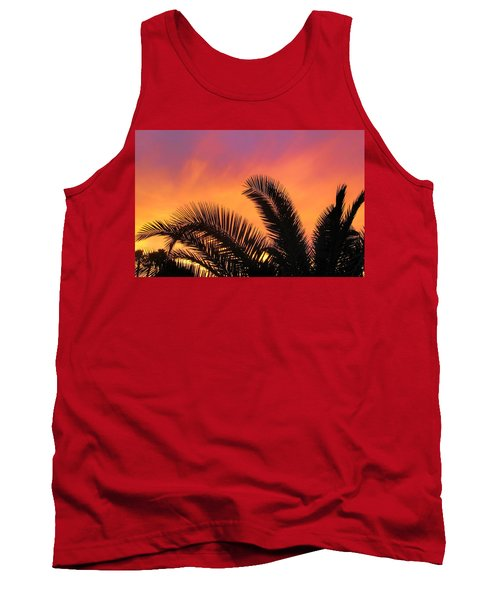 Tank Top featuring the photograph Winter Sunset by Tammy Espino