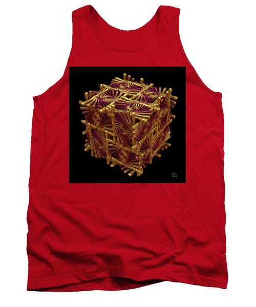 Tank Top featuring the digital art Xd Box by Manny Lorenzo