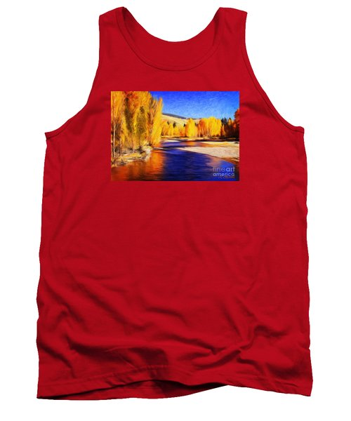 Yellow Bend In The River II Tank Top