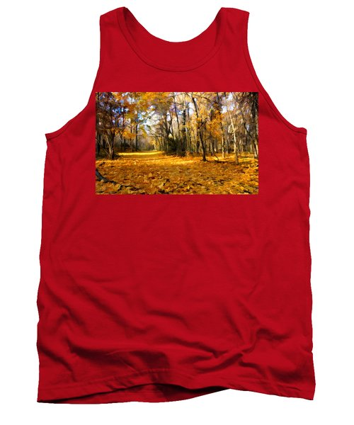 Yellow Leaf Road Tank Top