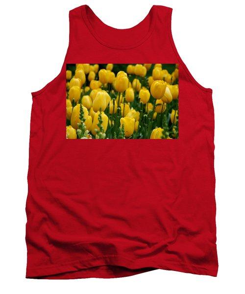 Yellow Tulip Sea Tank Top by Jennifer Ancker