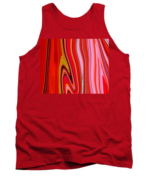 Tank Top featuring the painting Yipes Stripes  C2014 by Paul Ashby