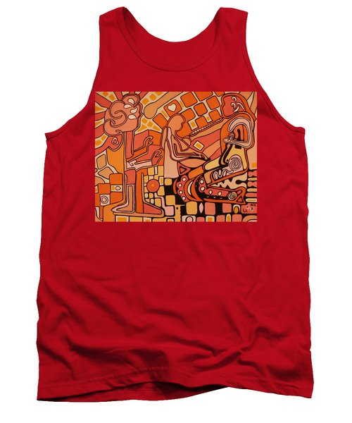 You Me And The Machine Tank Top by Barbara St Jean