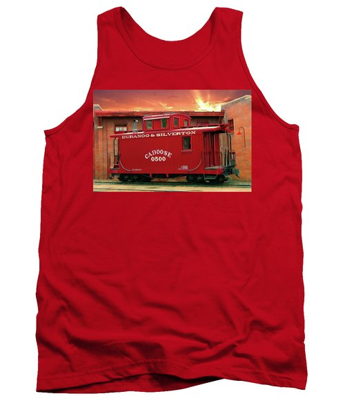 Tank Top featuring the digital art My Little Red Caboose Too by Gary Baird