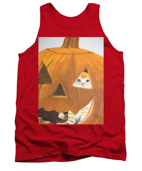 Tank Top featuring the painting Peekaboo by Norm Starks