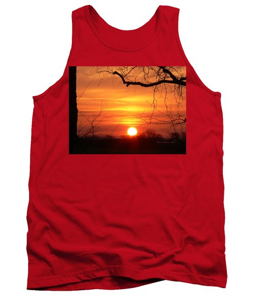 Tank Top featuring the photograph Sunrise In Tennessee by EricaMaxine  Price