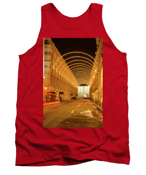 Red Square In Moscow At Night Tank Top