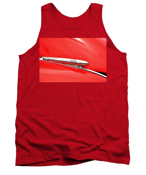 Tank Top featuring the photograph 1938 Chevy Hood Ornament by Paul Mashburn