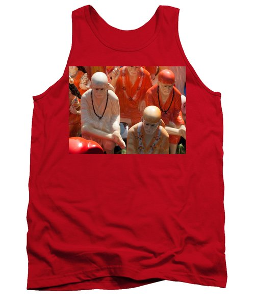 Tank Top featuring the photograph A Number Of Statues Of The Shirdi Sai Baba For Sale At Surajkund Mela by Ashish Agarwal