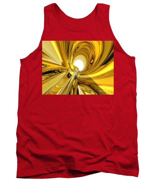 Tank Top featuring the digital art Abstract Gold Rings by Phil Perkins