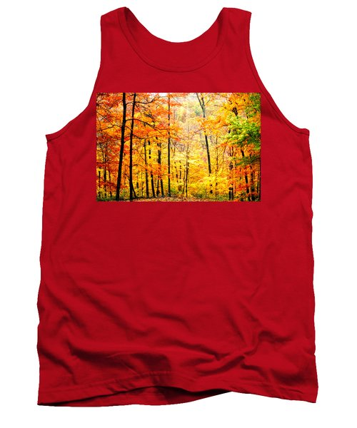 Tank Top featuring the photograph Autumn Forest by Randall Branham