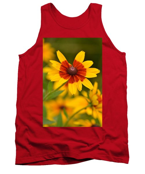 Tank Top featuring the photograph Blush-eyed Susan by JD Grimes