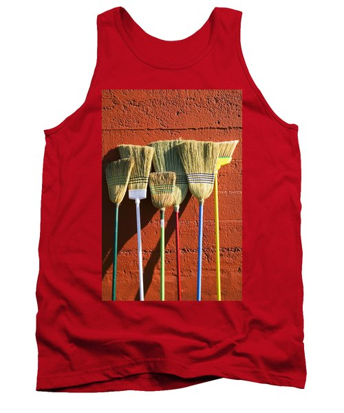 Brooms Leaning Against Wall Tank Top