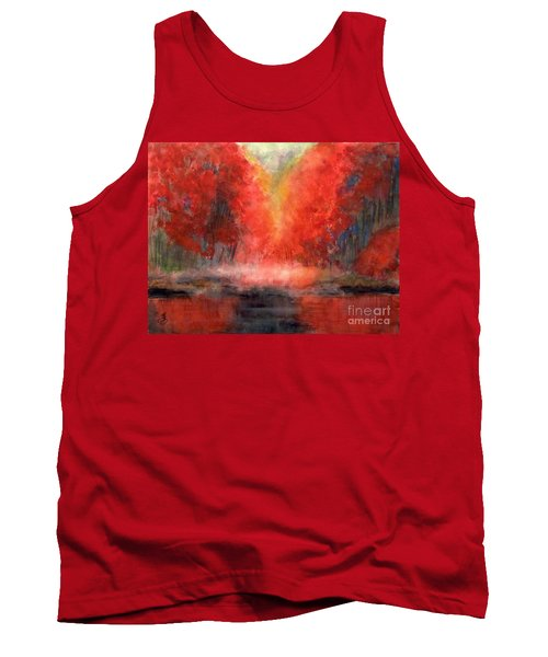 Burning Lake Tank Top by Yoshiko Mishina