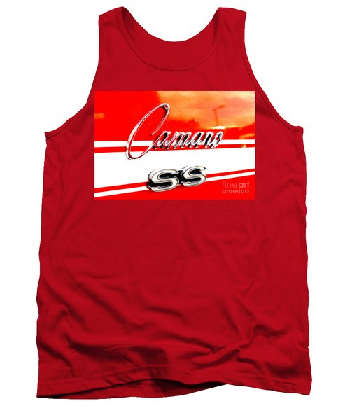 Tank Top featuring the digital art Camaro Ss Flank by Tony Cooper