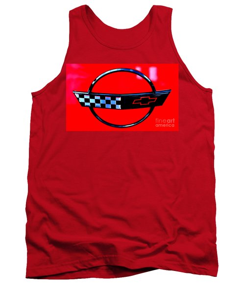 Tank Top featuring the digital art Chevrolet Corvette by Tony Cooper