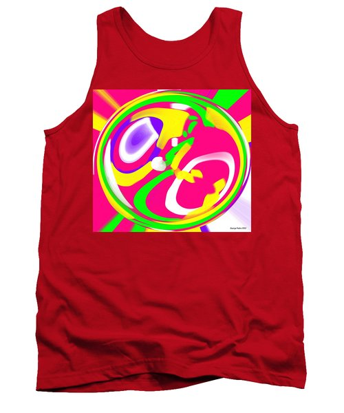 Tank Top featuring the digital art Color Roundup by George Pedro
