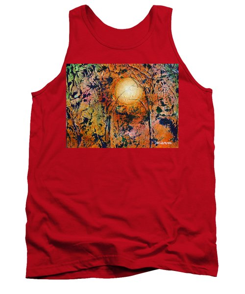 Tank Top featuring the painting Copper Moon by Dan Whittemore