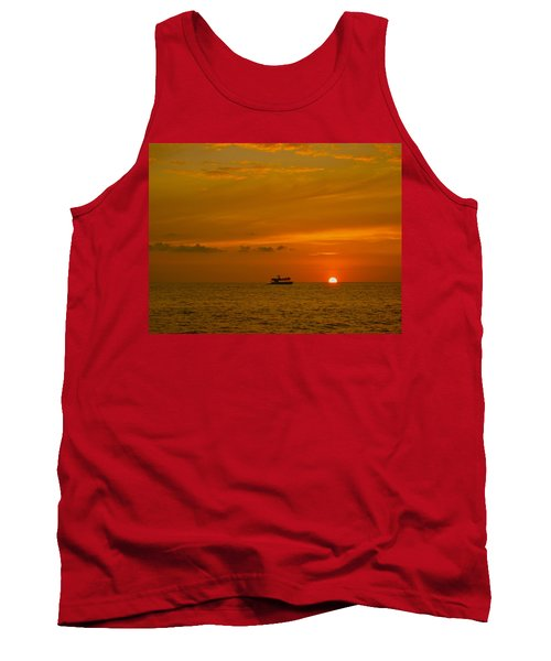 Tank Top featuring the photograph Costa Rica Sunset by Eric Tressler