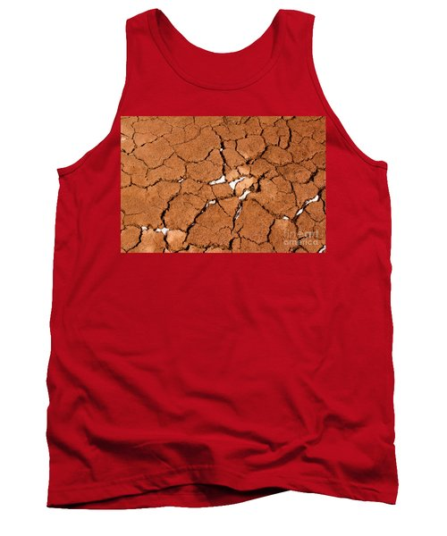 Tank Top featuring the photograph Cracked Red Soil  by Les Palenik