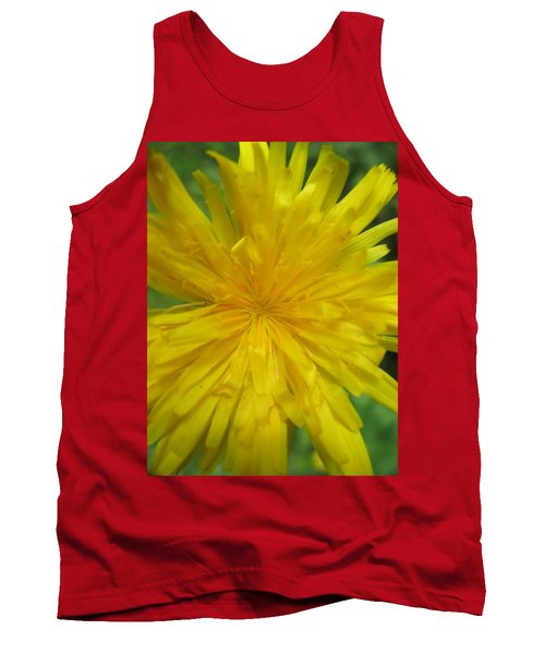 Tank Top featuring the photograph Dandelion Close Up by Kym Backland