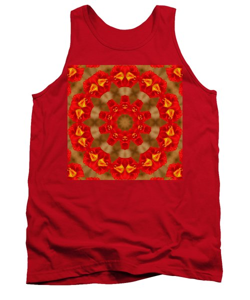 Tank Top featuring the photograph Day Lily Kaleidoscope by Bill Barber