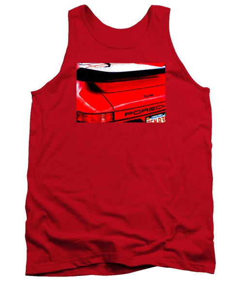 Tank Top featuring the photograph Dead Red Turbo by John Schneider