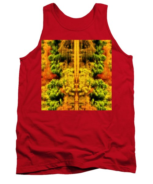 Tank Top featuring the photograph Fall Abstract by Meirion Matthias
