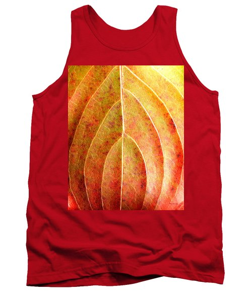 Fall Leaf Upclose Tank Top