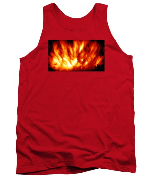 Fire In The Starry Sky Tank Top by Paul  Wilford