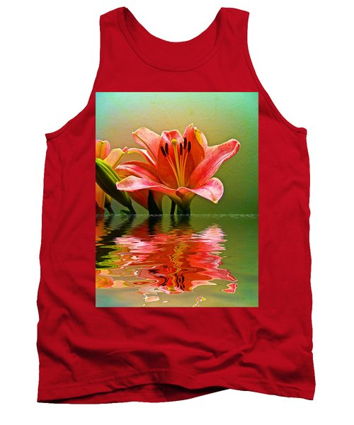 Flooded Lily Tank Top by Bill Barber