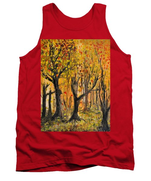Tank Top featuring the painting Foliage by Evelina Popilian