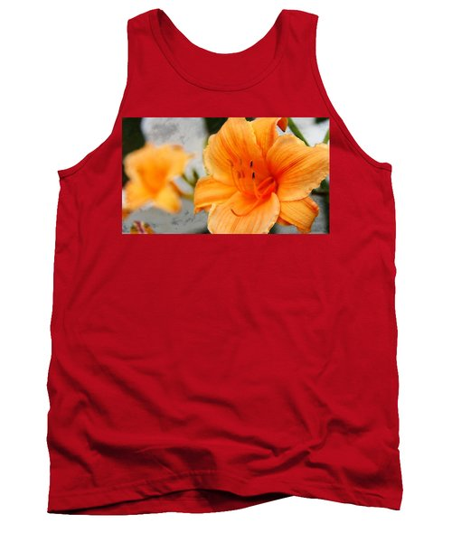 Tank Top featuring the photograph Garden Lily by Davandra Cribbie