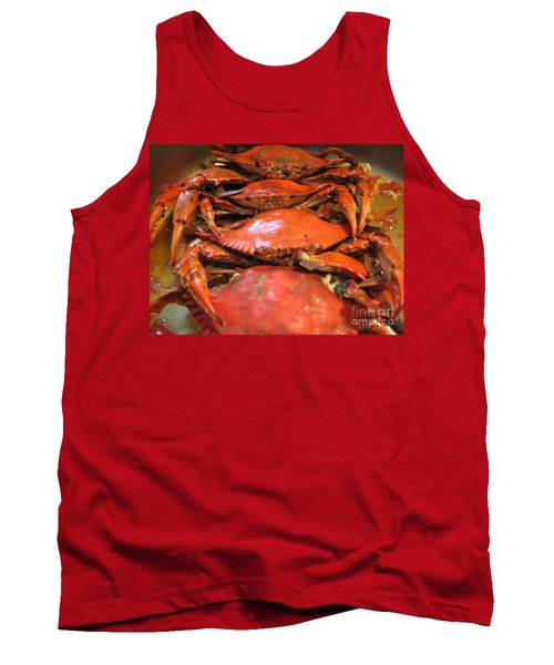 Tank Top featuring the photograph Crab Dinner Ocean Seafood  by Susan Carella