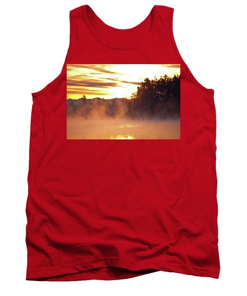 Tank Top featuring the photograph Misty Sunrise by Tikvah's Hope